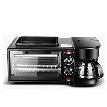 Shisky Máquina multifuncional de desayuno cafetera horno eléctrico mini buffet tres en uno, máquina de desayuno tostadora de regalo: Amazon.es: Hogar