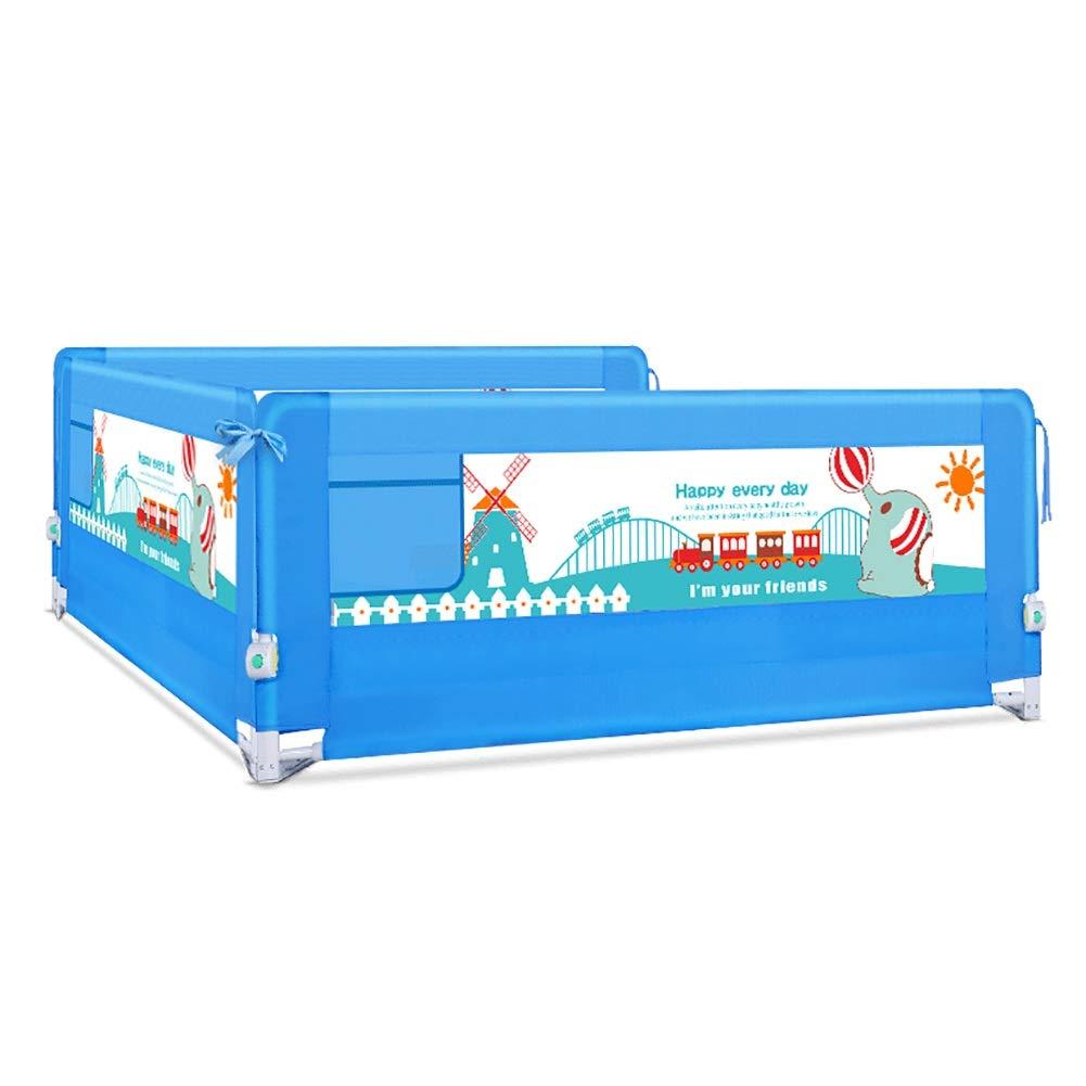 ベッドフェンス- キングサイズベッド用エクストラロングベビーベッドレール、高さ70cm、幼児用スウィングダウンブルー幼児用ロングベッドレール(3個セット) (サイズ さいず : 1.5+2+2m) 1.5+2+2m  B07MLLH7DN