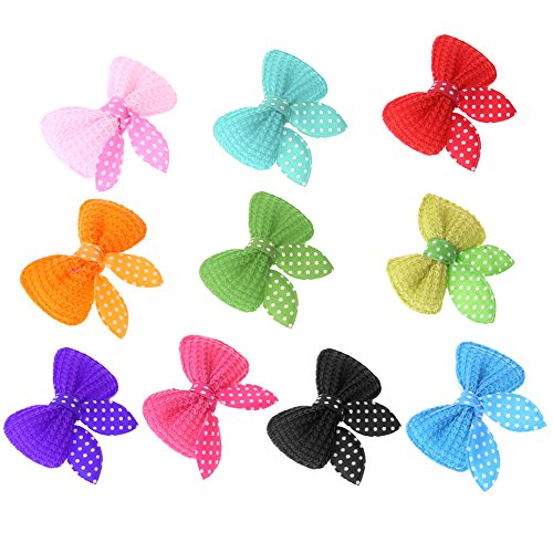 TTnight Pet Bows Hairpin, 10pcs Dog Hair Bows Hair Clips Pet Grooming Products Dogs Dress Up Accessories (random (Dress Up Dogs)