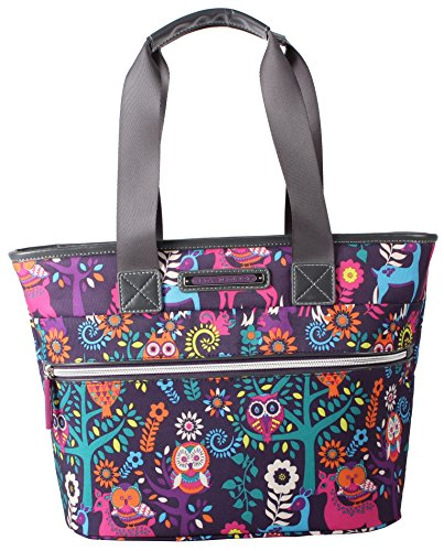 Bloom Box - Lily Bloom Large Insulated Lunch Cooler/Tote with Pack-n-Go Containers - Made from Recycled Plastic Bottles (Wildwoods Eggplant)