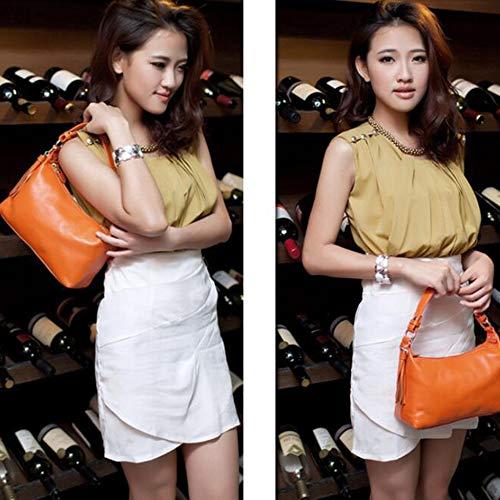 Fashion En Bandoulière Sacs Carré Handle à Main à Pour Décontractés Lightorange Petit Large Sacs Casual Top Sac Cuir Femmes g0EHfxqw