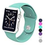 Sxciw Apple Watch Band, Soft Silicone Sports Replacement Wristband for Apple Watch (Mint green, 38mm-S/M)