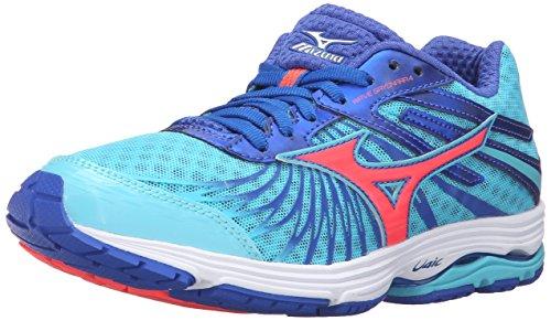 Mizuno Women's Wave Sayonara 4-W Running Shoe, Capri/Fiery Coral/Dazzling Blue, 10.5 B US ()