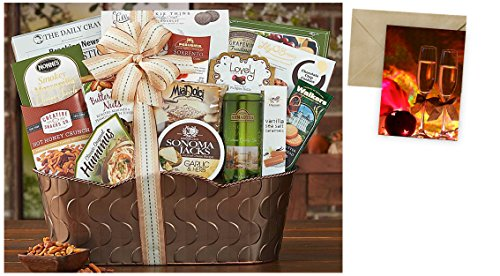 Bon Appetit Gift Basket for Christmas and personalized card mailed seperately, CD3238155