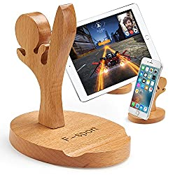 Creative Cute Natural Wooden cell Phone Stand/ Holder For Iphone Ipad Samsung Phone Tablet Plate PC (Kung fu boy)