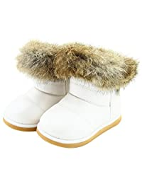 Femizee Toddler Girls Fully Fur lined Waterproof Winter Snow boots