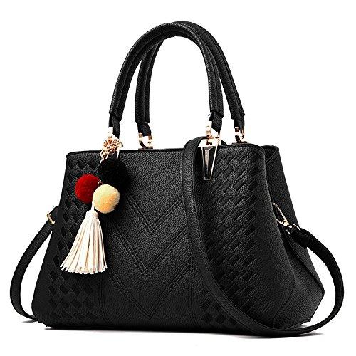 KYOKIM Bolsas Cruzadas Bolso De Hombro Femenino Bolso De Mensajero Creativo Elegante Bolso Black