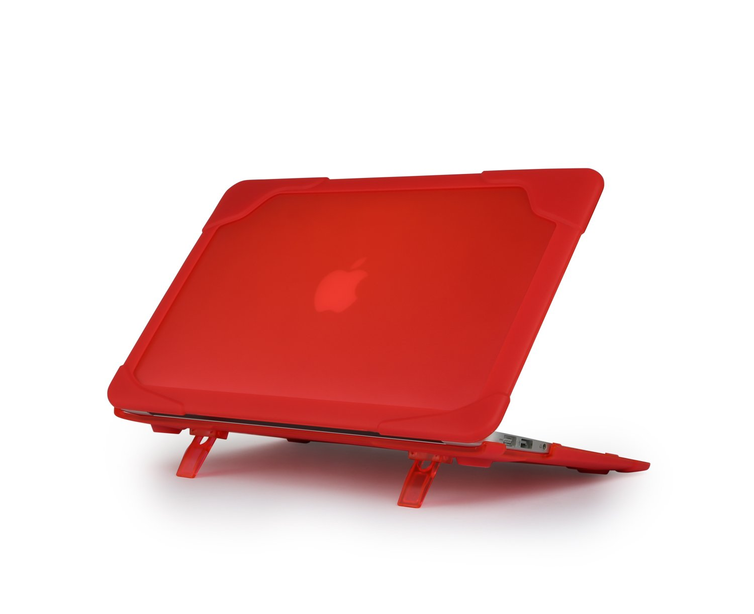 EOL Max Cases Extreme Shell for MacBook Air 13''- Extreme Dual Layer Protective Shell, Co-Molded Polycarbonate w/Premium Shock Absorbing TPE Edge Protection, Pop-up Feet - Red