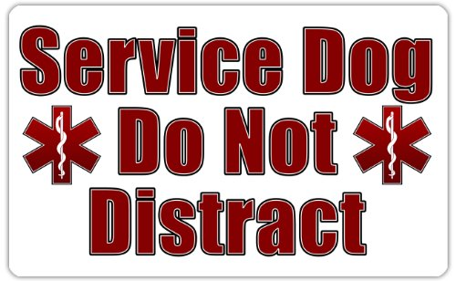 Service Dog Distract Vest Card