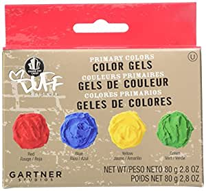 Duff Goldman by Gartner Studios Food Color Paste (Set of 4), Primary, 2.8 Ounce (Pack of 3)