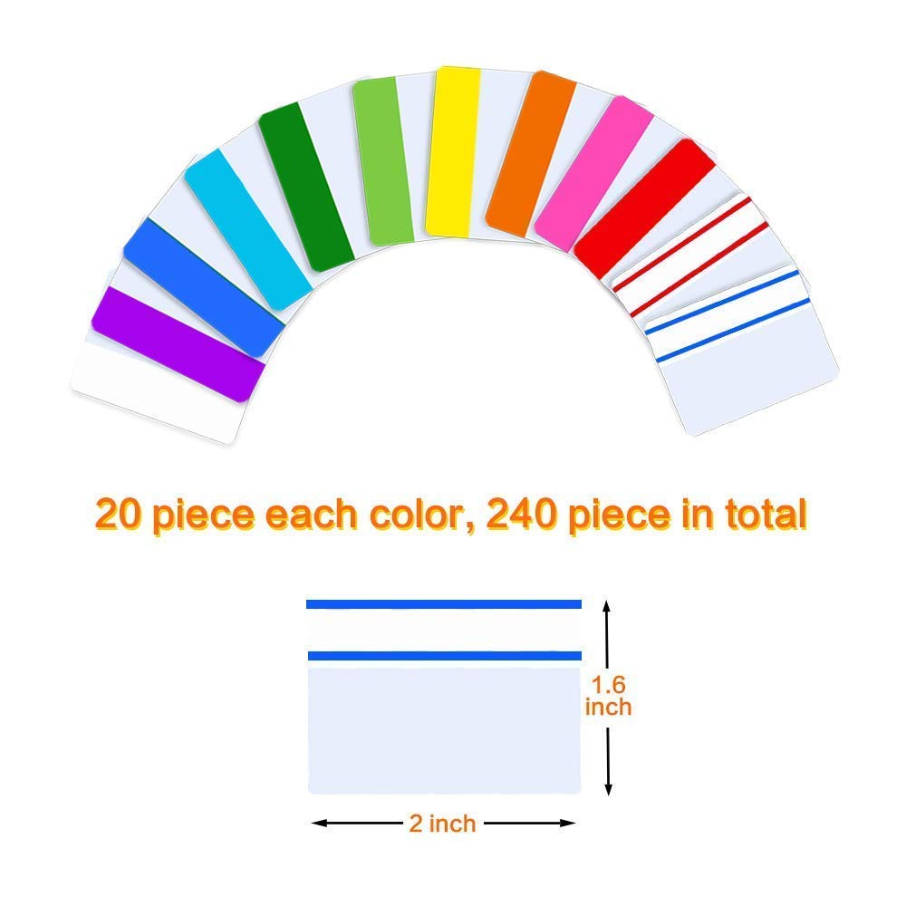 vgus 240 Pieces 2 Inch Sticky Tabs Page Markers Index Tabs Colored Sticky Notes Flag Page Tabs Notebooks Books File Folders,24 Sets 12 Colors/… 6 Pack