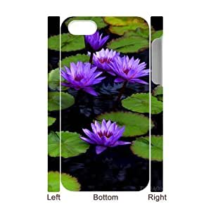 3D Bumper Plastic Case Of Water Lily customized case For Iphone 4/4s