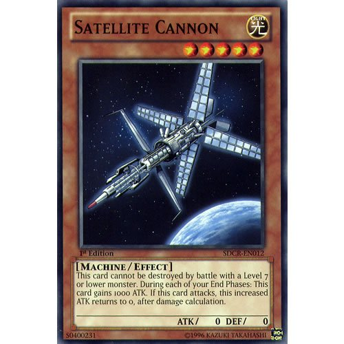 YuGiOh : SDCR-EN012 1st Ed Satellite Cannon Common Card - ( Cyber Dragon Revolution Yu-Gi-Oh! Single Card ) by Deckboosters