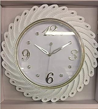 Designer Grande Horloge murale Horloge strass Nostalgie baroque ...