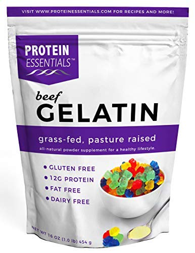 Protein Essentials Beef Gelatin Powder, Unflavored, Pasture-Raised, Grass Fed (16oz)