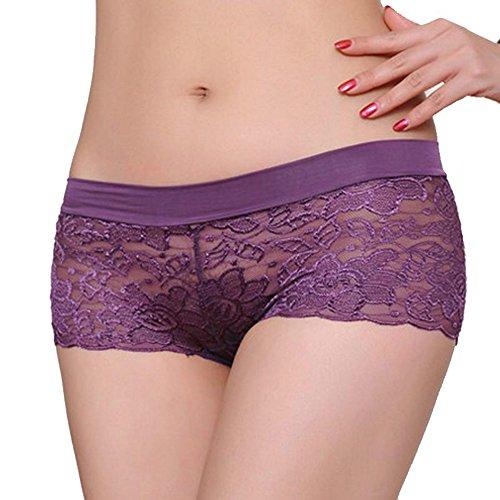 Women Comfort Knickers Yuaboz.H Lace Panties Underwear - Bikini Hustler