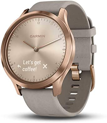 Garmin Vivomove HR Premium Hybrid Smartwatch Rose Gold with Grey ...