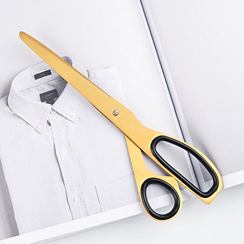 - Chris.W 7.8 Inch All-Purpose Ergonomic Scissors for Office/Home Use, Soft Grip Handle (Golden Tone)