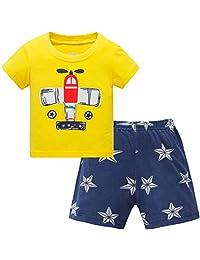 Hugbug Boys Plane Pajamas Set 2-7T