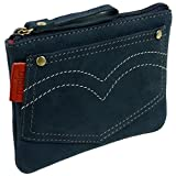 Mala Leather Big Boys' Nubuck Leather Coin Purse Onesize Blue