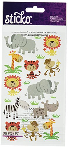 Sticko Zoo Cuties Stickers (Kids Craft Elephant)