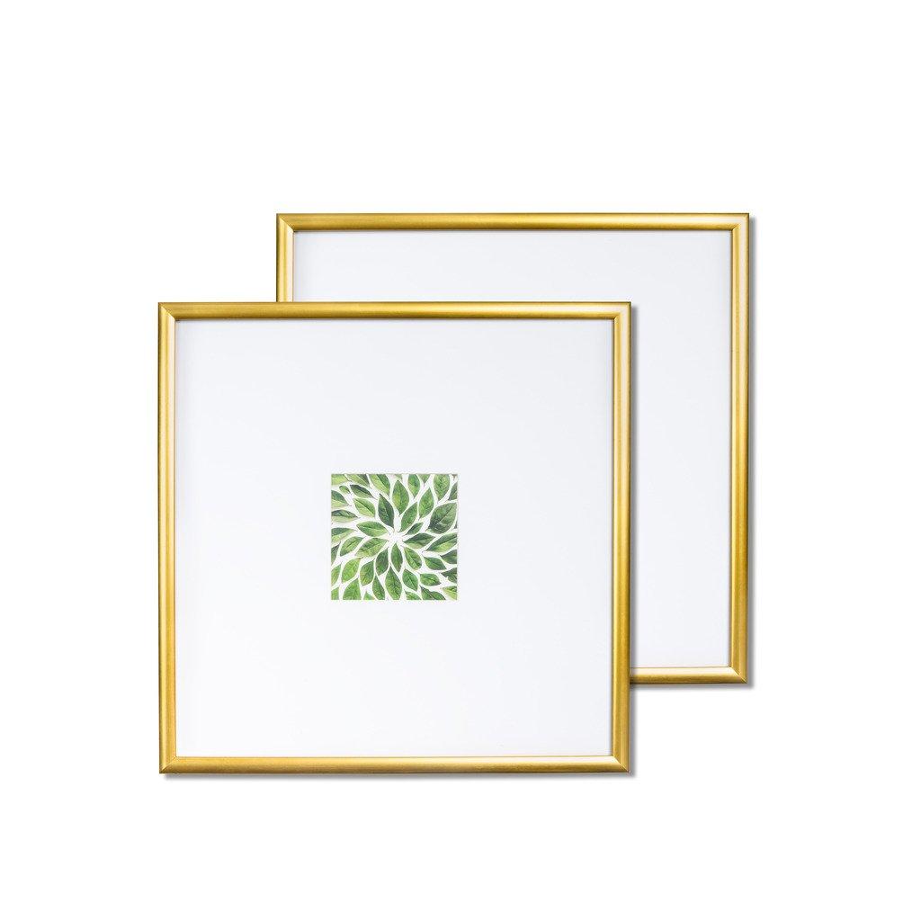 Kayan Set Bilderrahmen, holz, gold, 14x14: Amazon.de: Küche & Haushalt