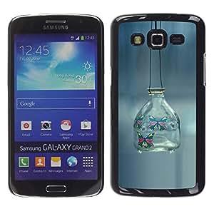 // CIUDAD ACTUAL MECELL // SmartPhone funda carcasa de plástico duro PC genial imagen para Samsung Galaxy Grand 2 /// Minimalismo fuera banka fon ///