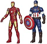 Super Heros Avenger Action Figures Captain America + Iron Man - Infinity War Toys