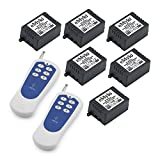 remote control board rf receiver - eMylo DC 12V 6x 1 Channel RF Relay Wireless Remote Control Switch 433Mhz Transmitter with Receiver
