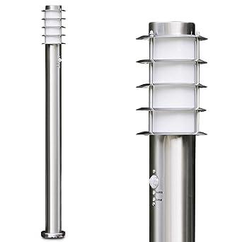 Sockelleuchte Stehleuchte Edelstahl Lampe Außenlampe Stehlampe Bewegungsmelder