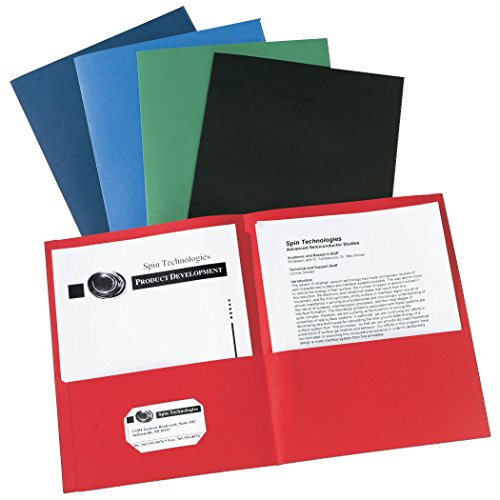 Avery Two-Pocket Folders Assorted Colors Box of 25 (47993)