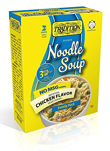 Tradition Imitation Chicken Flavor Instant Noodle Soup, No MSG, Family Pack, 4.12 Ounce
