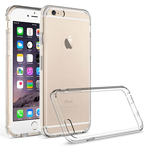 Leathlux Für iPhone 6 Plus / 6s Plus Hülle , Premium Shock Absorption Ultra-Transparent Slim Soft Rahmen Bumper + Harte Acryl Kristall Schutzhülle Hard Case Für Apple iPhone 6s Plus / 6 Plus 5.5""