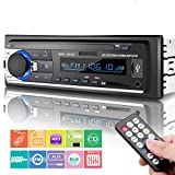 Car Stereo Bluetooth, Huicocy Universal in-Dash Single Din Car Radio Receiver MP3 Player/USB/SD Card/AUX/FM Radio Remote Control
