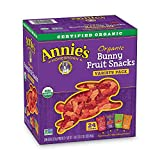 Annie's Organic Bunny Fruit Snacks, Variety Pack, 24 Pouches, 0.8 oz Each – Packaging May Vary
