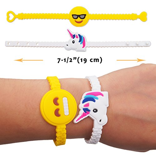 On Sale Pawliss Emoji Bracelets Wristband Unicorn Birthday Party Favors Supplies For Kids Girls