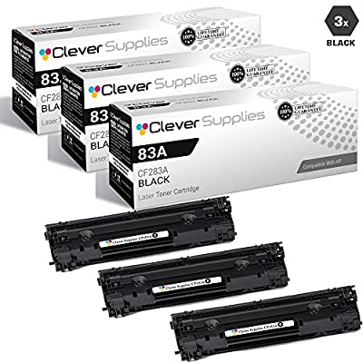 CS Compatible for HP 83A CF283A Black Laserjet Pro M201N M201DW MFP M125 M125NW M127 M127FN M127W M201 M225 MFP Toner Cartridge 3 Set
