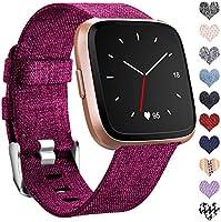 Ouwegaga Kompatibel mit Fitbit Versa Armband/Fitbit Versa 2 Armband, Woven Ersetzerband Verstellbares Zubehör...