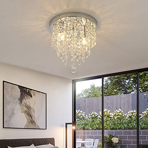 Light Crystal Eighteen Chandelier - lightclub Super Bright Modern G9 LED Artificial Crystal Pendant Chandelier Lamp Ceiling Light Decor for Supermarket, bar, Cafe, Clothing Store, Living Room 25cm