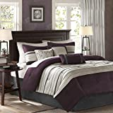 Madison Park Palmer Comforter Set, King, Plum