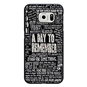 Samsung Galaxy S6 Edge Phone Case, Prime Simple Words Style Metalcore Rock Punk Band A Day To Remember Phone Case Cover ADRT Personalized