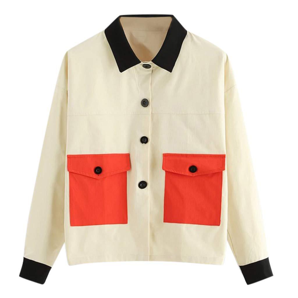 Fainosmny Women Teen Safari Jacket Coat Workers Button Jacket Winter Warm Outerwear Snow Cardigan Overcoats by Fainosmny