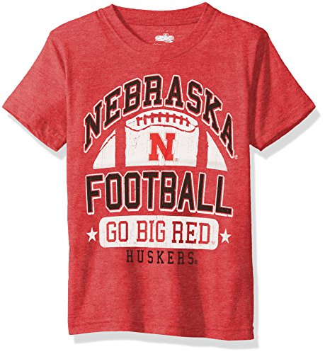 Cotton Willy NCAA Nebraska Cornhuskers Children Boys Short Sleeve Blend Tee,6,Cherry Blend