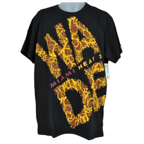 NBA Miami Heat Dwayne Wade # 3 Black Tshirt Tee Authentic Mens Champions 2XLarge