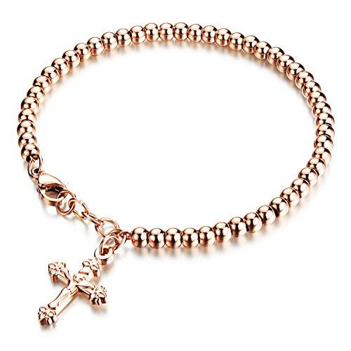 Moniya Silver Stainless Crucifix Bracelet product image