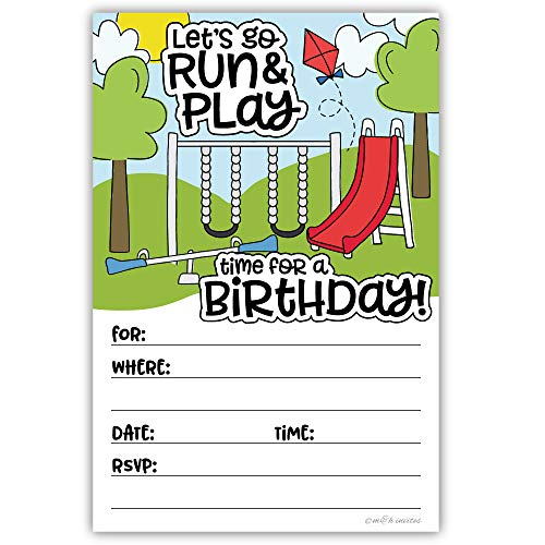 Playground Birthday Invitations (20 Count) With Envelopes