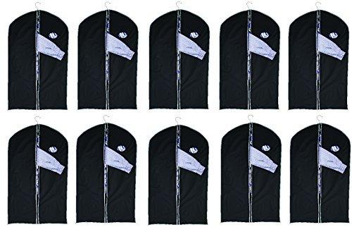 Kleidersäcke 10 Stück mit Sichtfenster ca. 100 x 60 cm Kleidersack Kleiderhülle Kleiderschutz Aufbewahrung