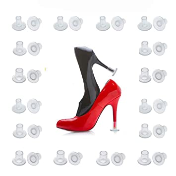 9134ddf004b 【2019 New】High Heel Protectors 24 Pairs Heel Stoppers for Wedding Grass  Outdoor Events Womens...
