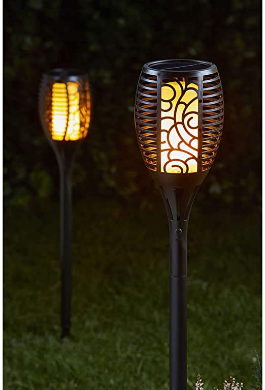 Smart Solar 1012620 BALIZA Llama LED 75CM, Negro: Amazon.es: Jardín