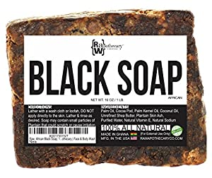 Raw Apothecary Raw African Black Soap, 16 Ounce